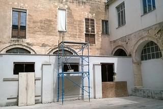 Noicattaro. Lavori al Palazzo della Cultura