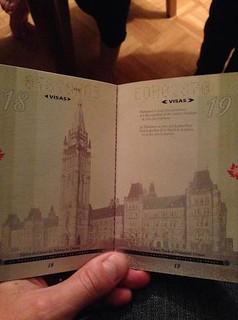 New Canadidan Passport in normal light