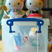 Two 7-Eleven Taiwan Hello Kitty figures (2007) by Jay Tilston
