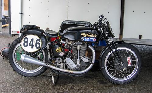 Vintage Norton 500cc Single Road Racing Motorcycle