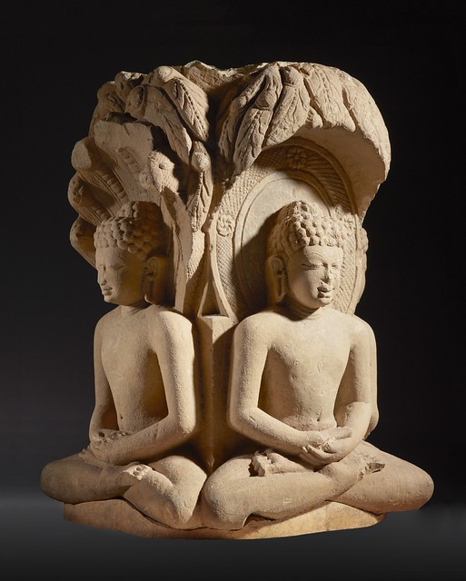 Shrine with Four Jinas (Rishabhanatha (Adinatha)), Parshvanatha, Neminatha, and Mahavira) LACMA M.85.55 (2 of 4)