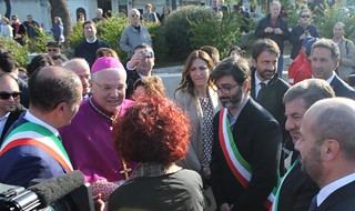 Boccardi e Notarnicola all'arrivo del vescovo Favale