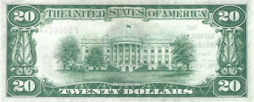 Castle Shannon National Bank Note back