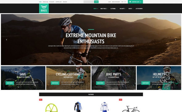 Cycling Equipment - OpenCart 2.0.1.0 Template
