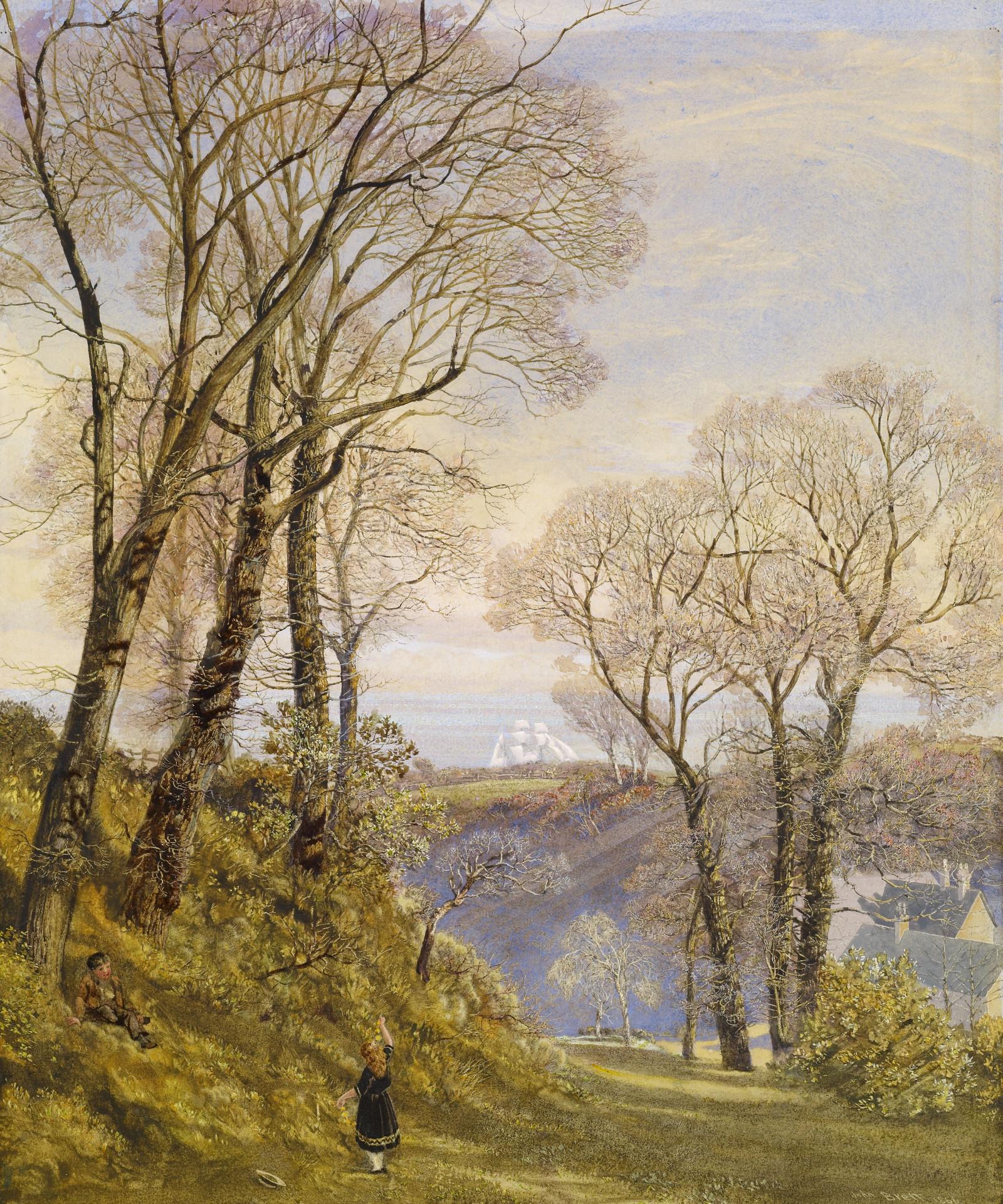 John Brett - February in the Isle of Wight, 1866