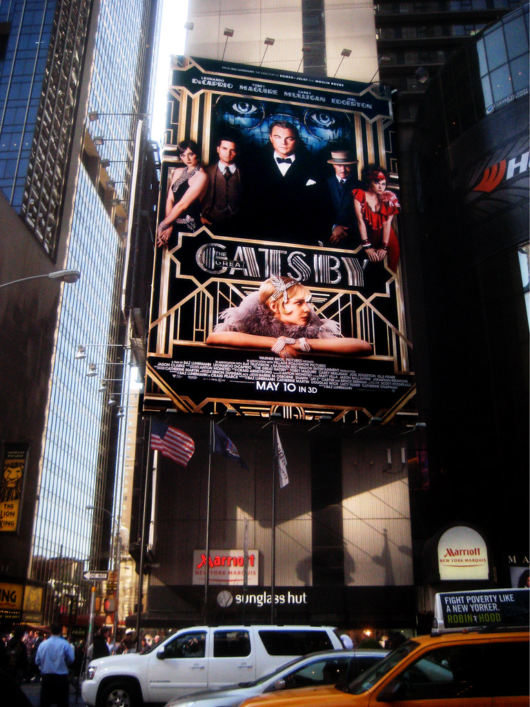 The Great Gatsby Film Billboard Times Square 9181 | The Grea