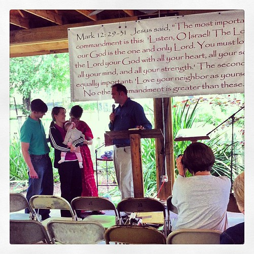 Dedicating Roxanne and Landrum's baby to The Lord. #wewillgo #babydedication #blessing