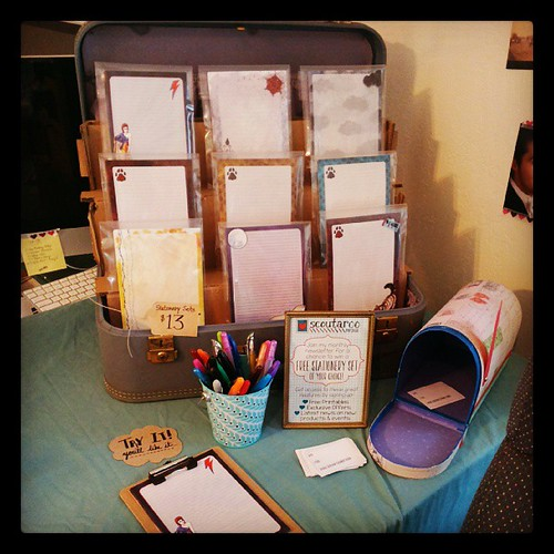Stationery display for my craft show this weekend!