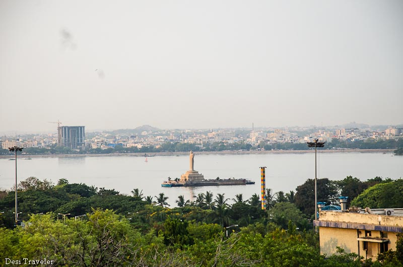 18 meter tall Buddha Statue in Hussain Sagar Hyderabad