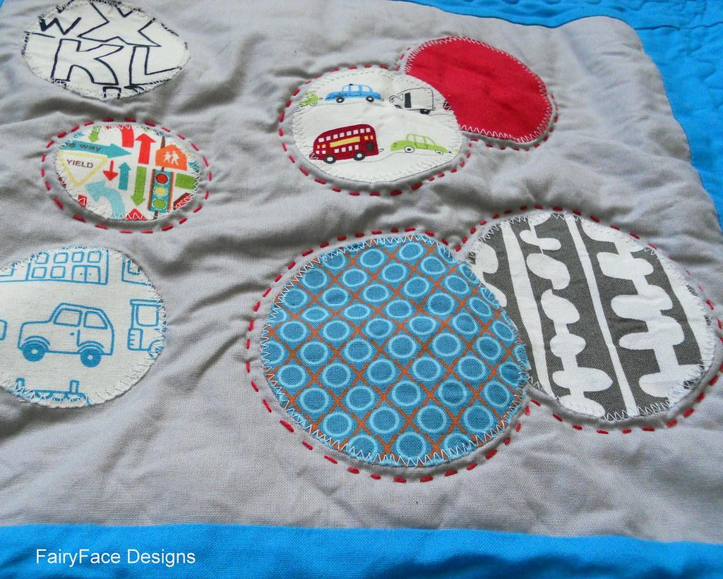 Darraghs quilt hand stitched block