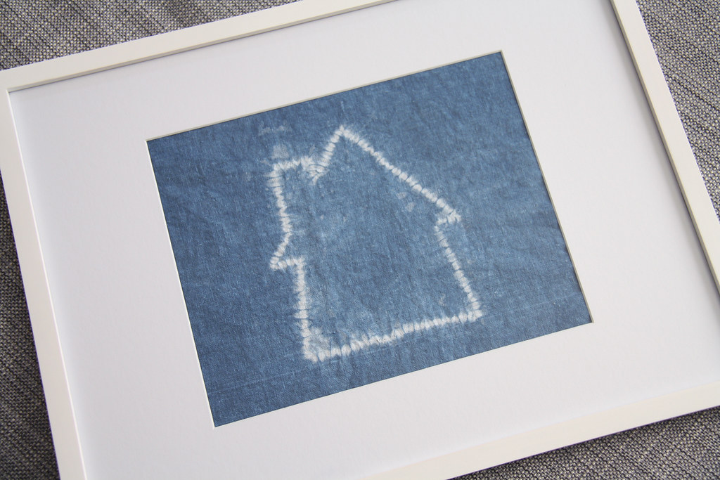 shibori stitch resist diy