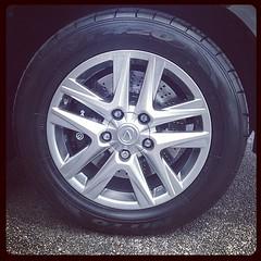 Big boy brakes on our latest bulletproof Lexus LX570. #brembo #brakes #crossdrilled #texasarmoring #sanantonio   #texas #cars #trucks #suvs #lexus #lx570