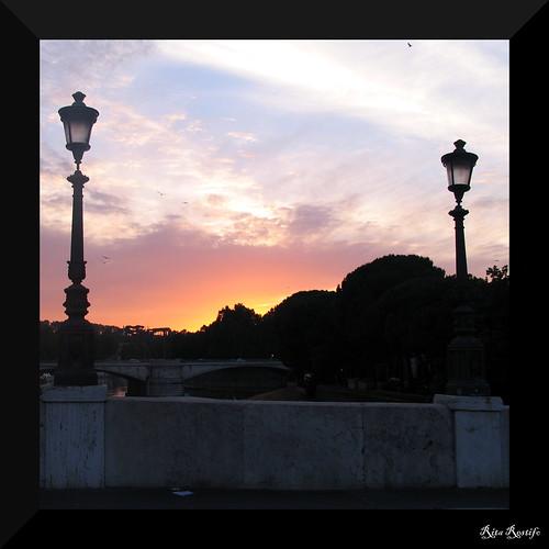 sunset italy rome roma clouds river italia tramonto nuvole fiume streetphotography sunsets tiber tevere tramonti ritarestifo