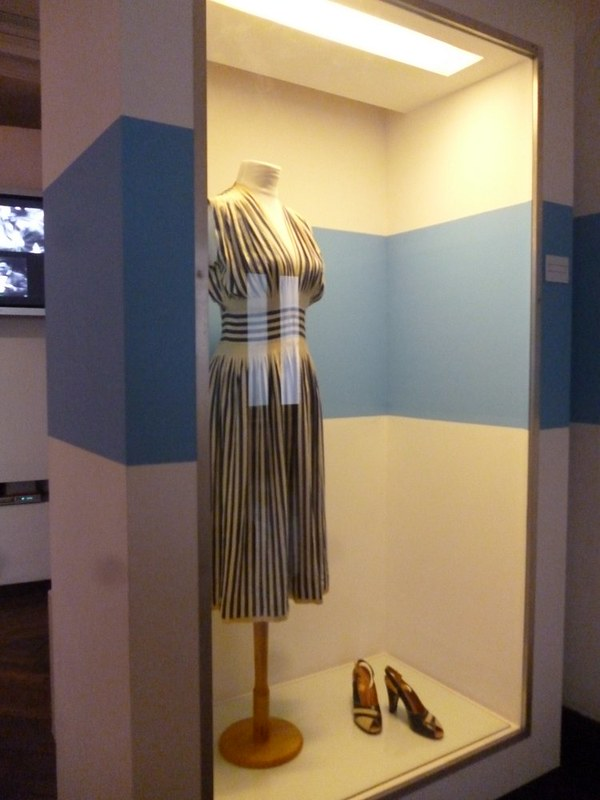 Evita's dress. I love the stripes.