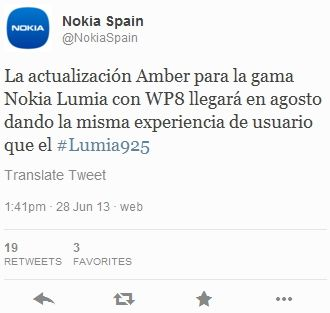 WP8 Amber для Nokia Lumia