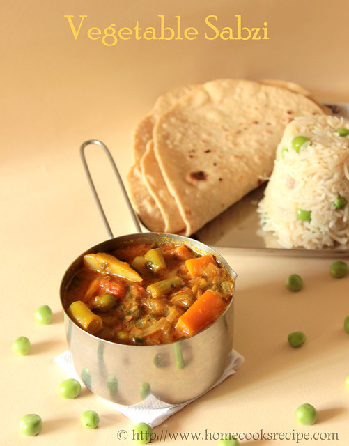 North Indian Vegetable Sabzi