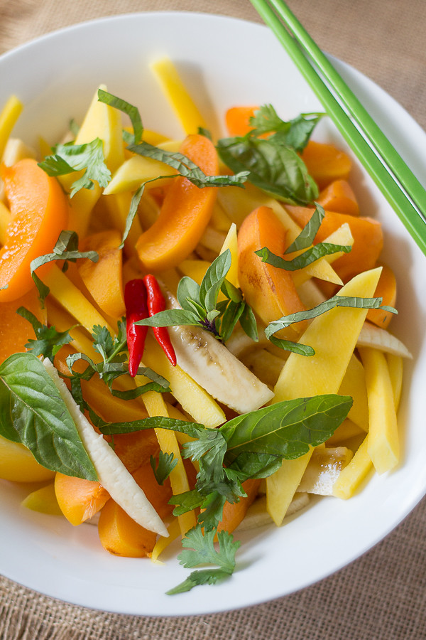 Thai Fruit Salad with Coconut Dressing