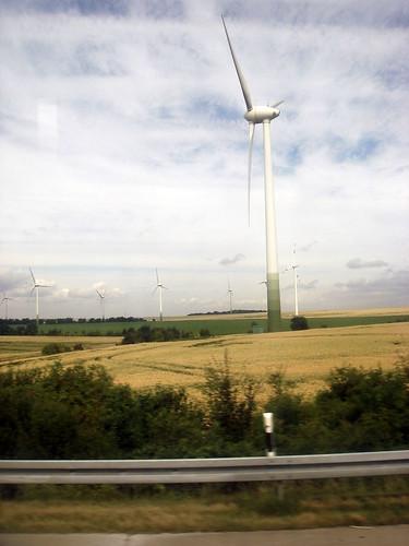 Wind farm near Weißenfels, Germany