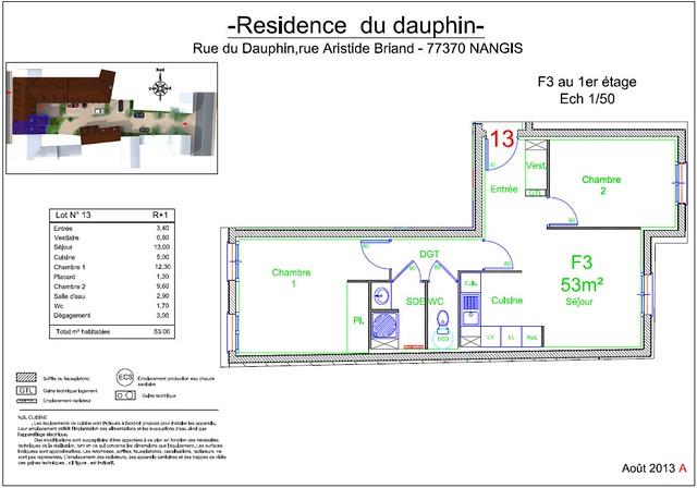 Résidence du Dauphin - Plan de vente - Lot n°13