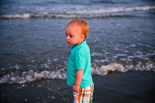 Toddler in the Ocean