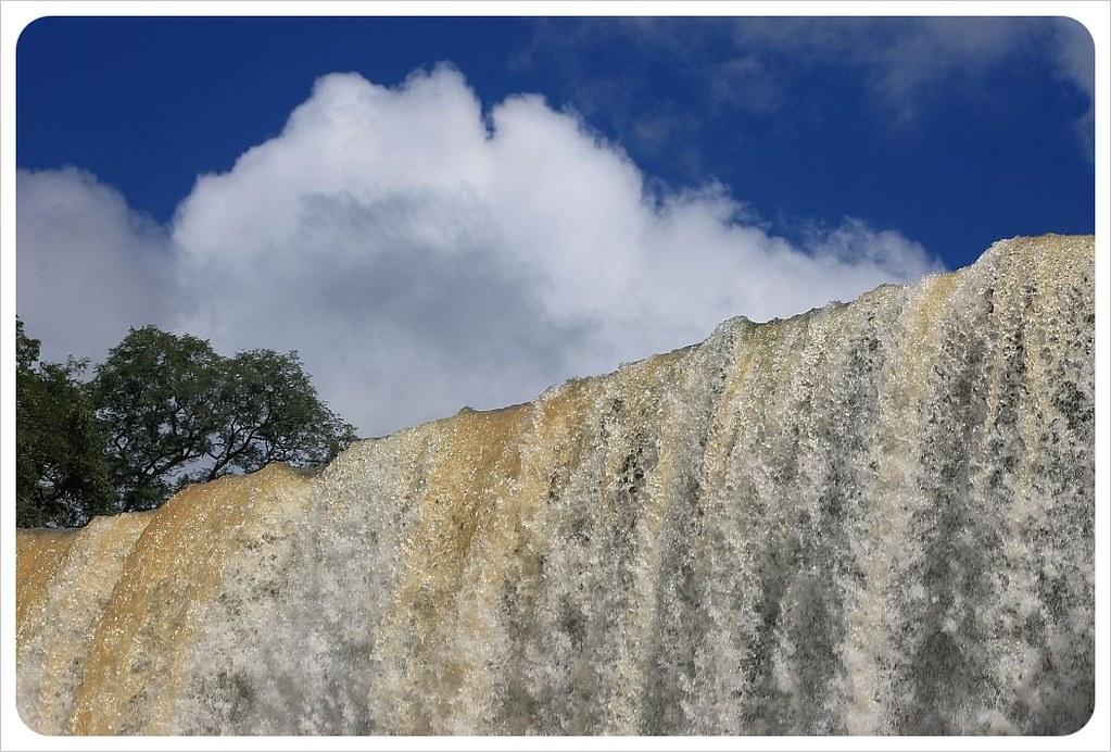 iguazu falls close-up