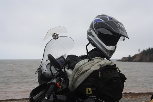 BMW F650 GS at Cape Enrage