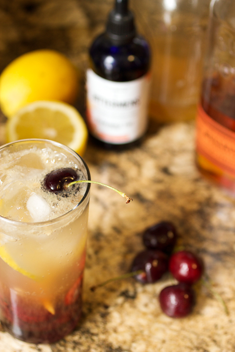 Cherry Bourbon Lemonade #SundaySupper