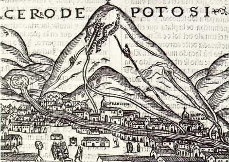 Ilustración del Cerro Rico (Potosí)