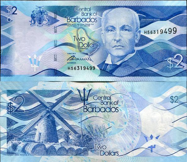 2 Doláre Barbados 2013