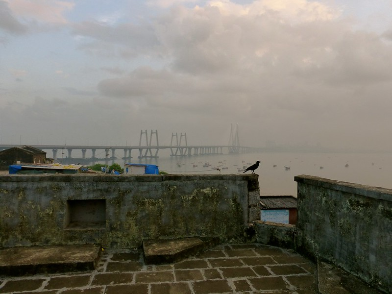 Worli Fort - view of sea link