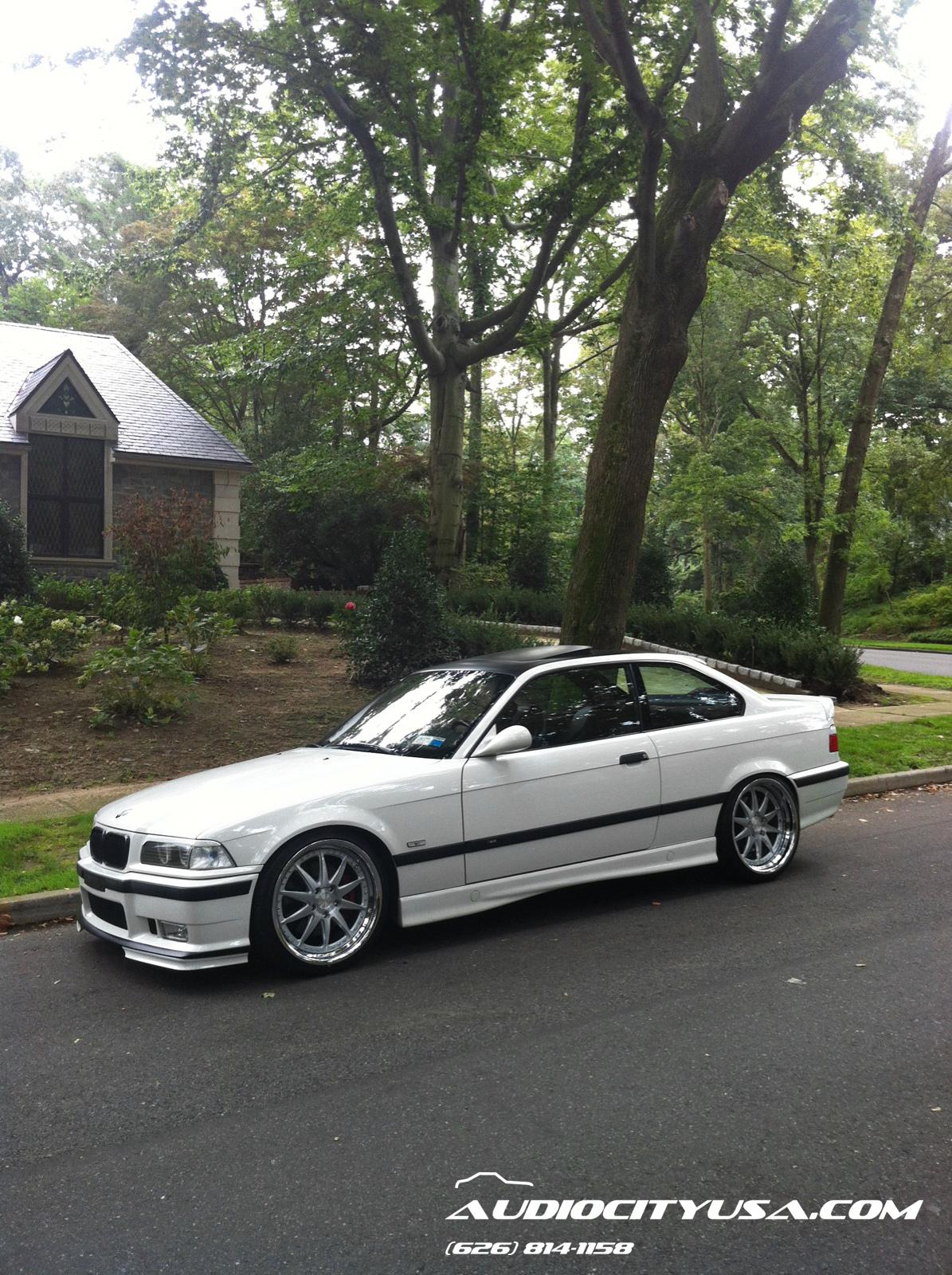 1997 E36 BMW M3 On 19 Rennen CSL 1 Brush Face Chrome Lip
