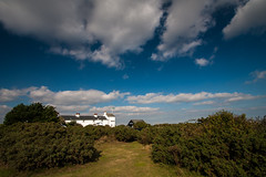 View of Coastguard cottages Dunwich
