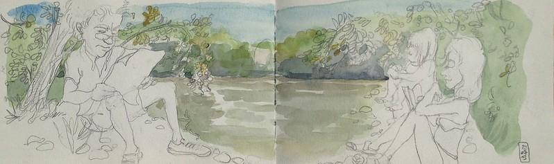 Dordogne riverside