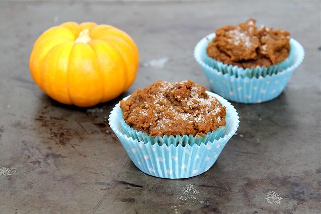 vegan Bourbon Pumpkin Muffins