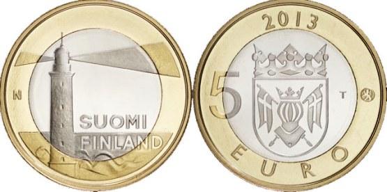 5 Euro Fínsko 2013, Aland - maják