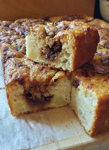 Apple Yogurt Cake with Cinnamon Swirl