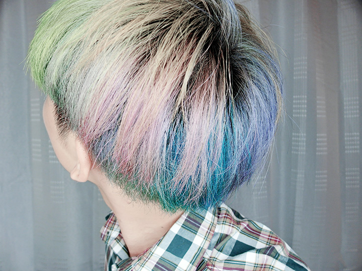 colourful rainbow hair