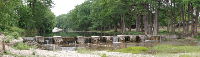 Panoramic of Hunt Crossing Dam