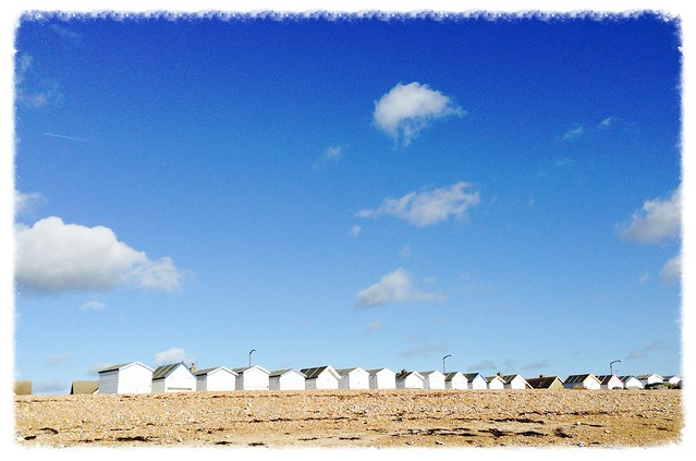 Beach huts at Goring