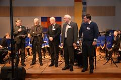 Brassbandfestivalen 2012 - Tom Brevik presenterar domarna: Jan van der Roost, Dirk Lautenbach, Torgny Hanson och Patrik Randefalk