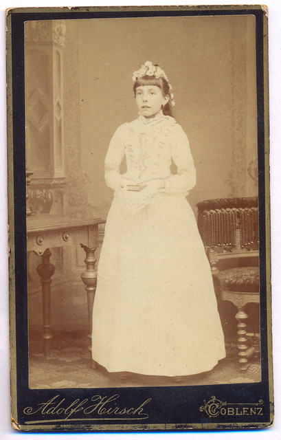 Fam.Braun-3 (Mother Pauline Braun at her First Communion) late 1890s