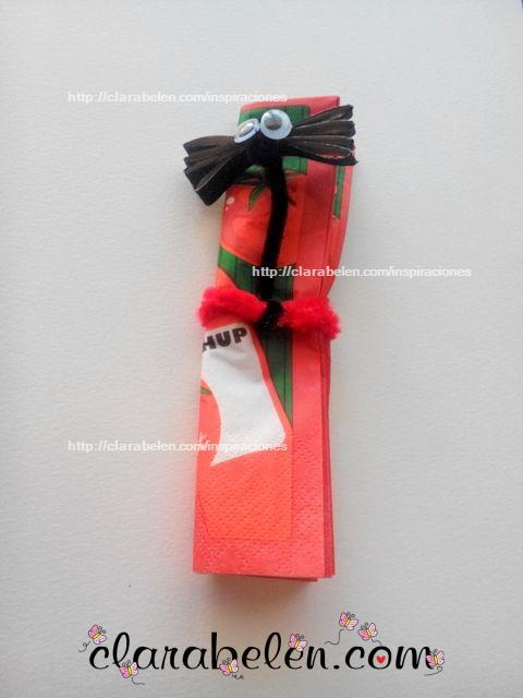 murciélago para niños con rollo de cartón para Halloween