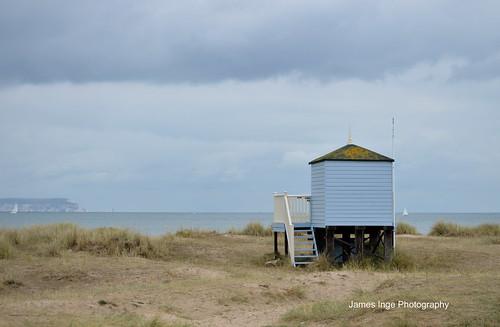 Lone beach hut