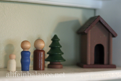 Painted Wooden Nativity Set