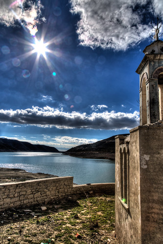 winter sun lake church water stone clouds canon landscape eos cross dam cyprus reservoir orthodox hdr limassol 24105 llens lefteris eos6d alassa kourris terykats katsouomallis