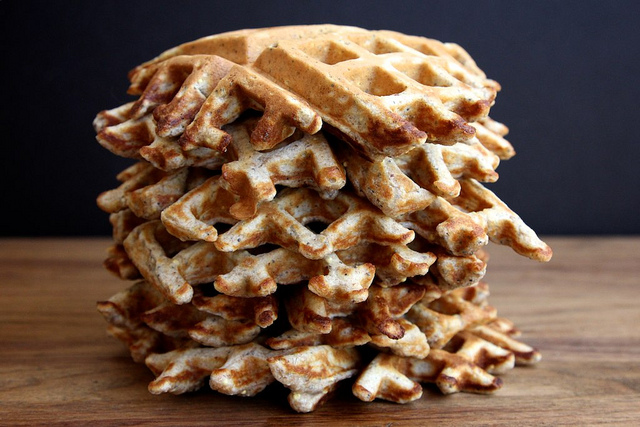 Whole Grain Waffles with Millet, Poppy, Sunflower, and Flax