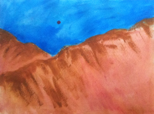 Back to the Mountains (Acrylic Water Media as of Dec. 23, 2013) by randubnick