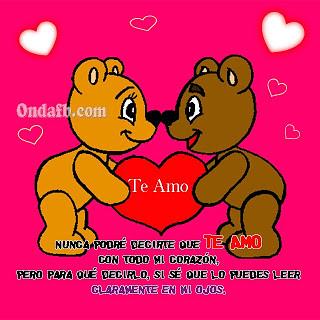 Linda Imagen De Lindos Ositos Tiernos Con Frase De Amor A Photo On