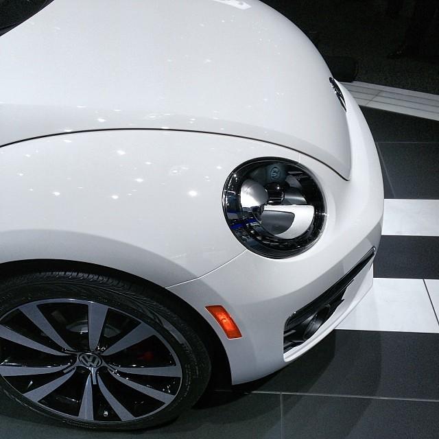 Hot Bug: Volkswagen Beetle R @ #Volkswagen booth @ NAIAS 2014 ... #naias #naias2014 #detroit #autoshow #vwusa #press #pressconference #worldpremie #vw #pressday