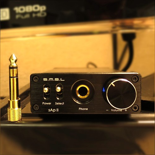 Oh this little monster is a new kinda happiness, I have just added on my work desk :) #SMSL #sApII TPA6120A2 #Stereo #Headphone #Amplifier